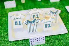 Clarkie's Soccer Themed Party – Sweet treats Football Themes, Party Themes, Sweet Treats, Soccer, Birthday, Sweets, Futbol, Birthdays, Candy