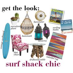 get the look: surf shack chic.  This is sooo cute for the lake house!!!