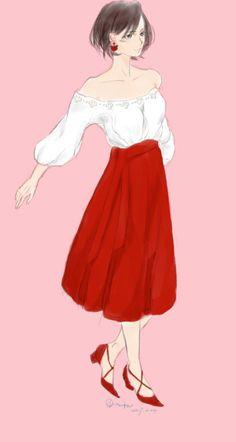 mikasa, Attack On Titan, mikasa ackerman / tokyo girls colletion - pixiv Mikasa Anime, Eren X Mikasa, Rivamika, Anime Girl Neko, Eremika, Attack On Titan Fanart, Anime Poses, Peace And Love, Character Art