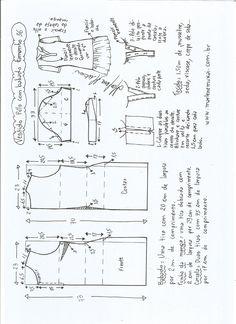 Patrón para confeccionar un vestido de polo con volante. Tallas desde la 36 hasta la 56.
