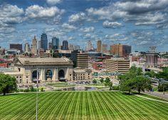Union Station and the Kansas City Skyline #KC #photography #cityscape