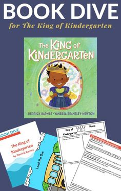 Meaningful, playful and hands-on book activities to take you deep into The King of Kindergarten book. #kindergarten #backtoschool #bookactivities #childrensbooks #GrowingBookbyBook Kindergarten Classroom Setup, Kindergarten Learning, Kindergarten Crafts, The New School, New School Year, Back To School, Children's Books, New Books, Vocabulary Building