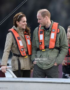 (NO UK SALES FOR 28 DAYS) Prince William, Duke of Cambridge and Catherine, Duchess of Cambridge take part on a fishing boat trip on September 30, 2016 in Haida Gwaii, Canada.  (Photo by Samir Hussein/WireImage)
