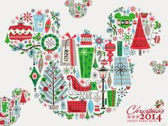 Celebrate the Season With This Holiday Desktop/Mobile #Disney Wallpaper from @DisneyParks