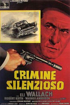 "FILM noir ""crimine silenzioso"" LINE-UP movie poster ELI WALLACH new 24X36"
