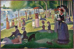 Victoria's Sunday Victoria Beckham, Vogue Magazine August 2014 + A Sunday Afternoon on the Island of La Grande Jatte by Georges Seurat
