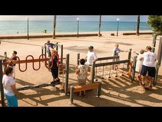 The World: Spain's senior citizens play at the playground. This is so neat.