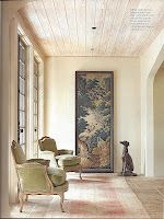 Love the bergere chairs, rug, and the architectural details.  Cindy Smith in Charlotte, NC via Circa Interiors and Antiques