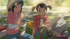 Mitsuha and Yotsuha - Kimi no na wa Kimi No Na Wa, Chica Anime Manga, Anime Art, Mitsuha And Taki, Avatar, The Garden Of Words, Otaku, Your Name Anime, Fanart