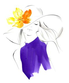 Yoco Nagamniya #fashion illustration for #Mikimoto