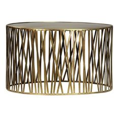Brass round coffee table with smooth finish and modern stick frame. This coffee table is chic, stylish, and and modern! Drum Coffee Table, Drum Table, Round Coffee Table, Drum Craft, Vintage Drums, Nebraska Furniture Mart, Dining Room Lighting, Modern Materials, Table Furniture
