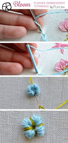 cotton flower embroidery tutorial