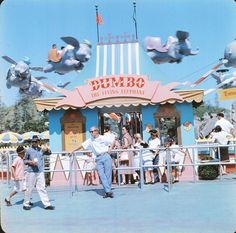 """""""Dumbo the Flying Elephant ticket booth, circa 1960s """""""