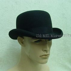 4fdb6abc941 Hats and Headgear 155349  Derby Bowler Low Crown Ripper Street Style Scala  Black Wool S
