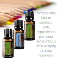 Rosemary peppermint or basil peppermint are great study pairs. Diffuse when doing homework or studying. The Essential Life, Essential Oil Uses, Yl Oils, Doterra Essential Oils, Diffuser Blends, Oil Diffuser, Doterra Rosemary, Doterra Peppermint, Heath And Fitness
