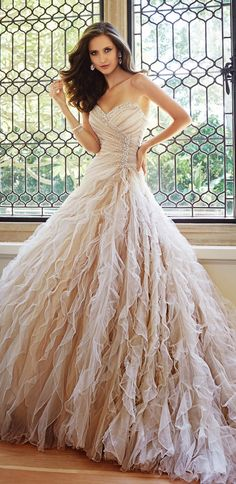Sophia Tolli Fall 2014 Bridal Collection | bellethemagazine.com •• http://www.bellethemagazine.com/2014/03/sophia-tolli-fall-2014-bridal-collection.html