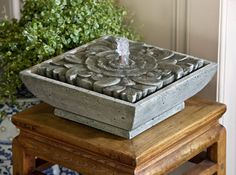 M-Series Artifact cast stone Fountain made by Campania International   I'd like this for our 15th wedding Anniversary, the therapeutic effects are so beneficial.