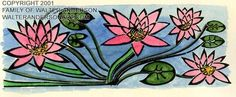 Waterlilies by Walter Anderson
