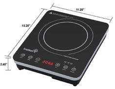Ivation 1800 Watt Portable Induction Countertop Cooktop Burner, Easy Clean Full Glass Top w/Touch Button Control