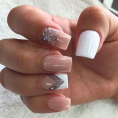 Nude Color Nails – 25 Best Nude Nail Polish Manicures - See Them All Right Here… Color For Nails, Pretty Nail Colors, Pretty Nail Designs, Pretty Nails, Acrylic Nail Designs, Acrylic Nails, Sparkle Nails, Nude Nails, White Nails