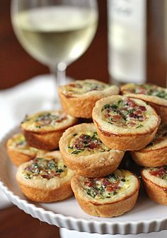 """Pancetta and Parmesan Tassies are """"little cups"""" they taste delicious!"""