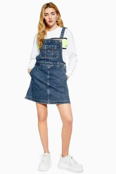 9335cc572995 Womens Dungaree Dress By Tommy Jeans - Blue