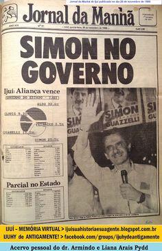 IJUÍ - RS - Memória Virtual: Eleições Estaduais e Federais no ano de 1986: Vota...