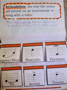 Interactive Notebook: great idea for students to track their music definitions