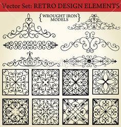Wrought iron - Retro Design Elements — Stock Illustration #6042547