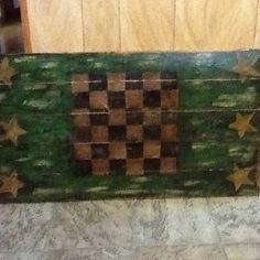 Game board on wood.