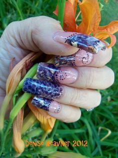 REAL SNAKE SKIN nails !  The real deal !