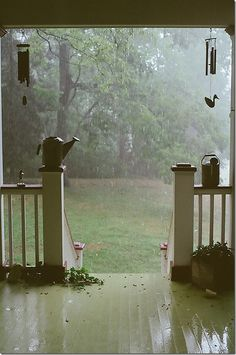 perfect way to relax, along with a cup of coffee just listening to the rain fall....