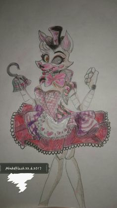 Mangle, draw by... Me The original picture is from another designer