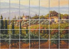 Fabulous Fields Tile Mural | Pacifica Tile Art Studio