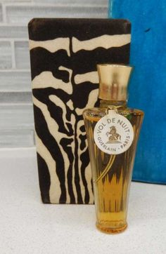 Vintage 1970s Guerlaine Vol de Nuit Perfume In Tiger Box 1/4 Oz by gypsytejas on Etsy