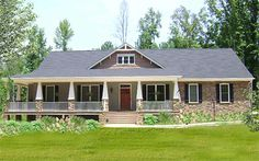 Plan 2589DH: Wraparound with Porch and Sunroom in Back