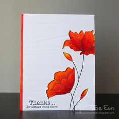 Today I have two cards to share with you, which feature the Divine stamp from Penny Black.       I wanted to give some texture on the card f...
