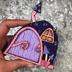 These stunning fairy doors are all individually handpainted - meaning no two will ever be the same, so if you see one you like, make sure to snap it up. Skirting Boards, Beautiful Fairies, Painting Wallpaper, Fairy Doors, Purple, Pink, Hand Painted, How To Make, Etsy