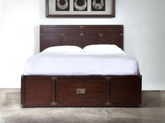 Scandinavian Designs - Beds - Campaign Bed with Storage Drawer - Another idea for a Ikea Malm dresser hack.