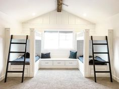 4 Reasons You Should Install Bunk Beds In Your Bedroom – Home Dcorz Bunk Bed Rooms, Bunk Beds Built In, Kids Bedroom, Bedroom Decor, Bunk Bed Designs, Guest Bedrooms, Basement Bedrooms, Dream Rooms, Boy Room