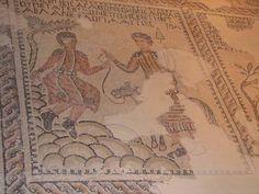 Abraham and Isaac, synagogue at Sepphoris, Israel (biblewalks.com)
