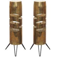 Two 1950s Italian Bronze Table Lanterns | From a unique collection of antique and modern table lamps at https://www.1stdibs.com/furniture/lighting/table-lamps/