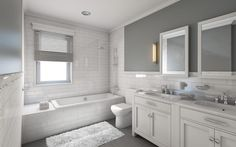 Beautiful Modern Bathroom Colors 31 With Additional Home Decoration Ideas with Modern Bathroom Colors Do you Want a good living room decoration concept? Well, for this matter, you want to understand about the Modern Bathroom Colors. Best Bathroom Colors, Bathroom Color Schemes, Bathroom Trends, Bathroom Updates, Best Bathroom Designs, White Master Bathroom, Modern Bathroom, White Bathrooms, Bathroom Gray