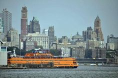 staten island ferry - easy, FREE way to see beautiful views of the Manhattan skyline & Lady Liberty