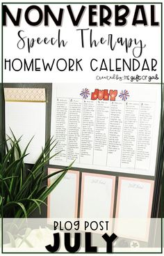 This blog post for speech language pathologists and special educators describes a homework activity calendar for nonverbal or limited students. Preschool Speech Therapy, Speech Language Pathology, Speech And Language, Preschool Songs, Preschool Lessons, Articulation Activities, Speech Therapy Activities, Language Activities, Articulation Therapy
