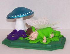 Baby Boy Butterfly Polymer Clay Figurine by Enchanted4You on Etsy, $26.99