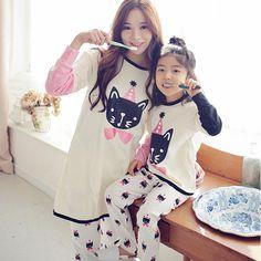 2017 new mother daughter pajamas pyjamas matching mother daughter clothes  family look clothing set long sleeve b1ebf85dd
