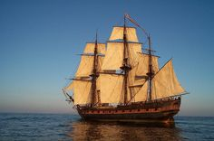 The Rose at Sunset - The rose is a replica of an English ship. She was turned unto the HMS Surprise for the movie Master and Commander. (by sandrino, via Flickr