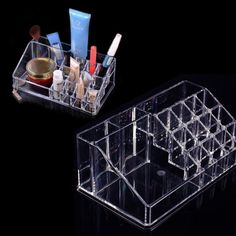 High Quality Crystal Cosmetic Organizer Makeup Jewelry Lipstick Brush Insert Holder Box  NVIE-in Storage Boxes & Bins from Home & Garden on Aliexpress.com | Alibaba Group
