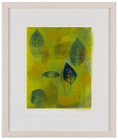 Leaves in the Lake (green) by Marc Ellen Hamel by Marc Ellen Hamel